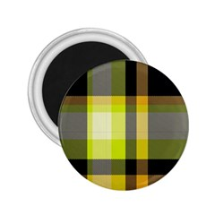 Tartan Pattern Background Fabric Design 2 25  Magnets
