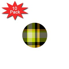 Tartan Pattern Background Fabric Design 1  Mini Buttons (10 Pack)