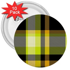 Tartan Pattern Background Fabric Design 3  Buttons (10 Pack)