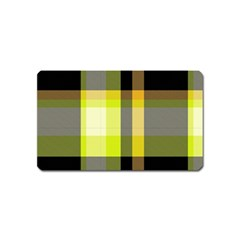 Tartan Pattern Background Fabric Design Magnet (name Card)
