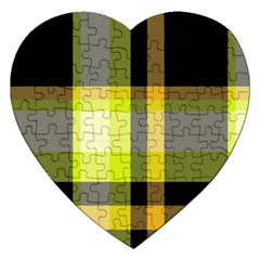Tartan Pattern Background Fabric Design Jigsaw Puzzle (heart)