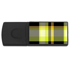 Tartan Pattern Background Fabric Design USB Flash Drive Rectangular (4 GB)