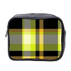 Tartan Pattern Background Fabric Design Mini Toiletries Bag 2 Side