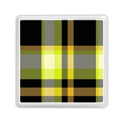 Tartan Pattern Background Fabric Design Memory Card Reader (square)