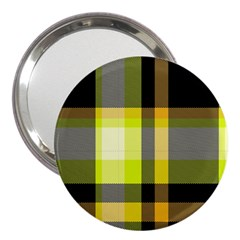 Tartan Pattern Background Fabric Design 3  Handbag Mirrors