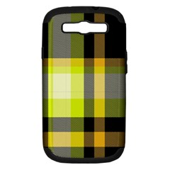 Tartan Pattern Background Fabric Design Samsung Galaxy S III Hardshell Case (PC+Silicone)