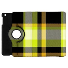 Tartan Pattern Background Fabric Design Apple iPad Mini Flip 360 Case