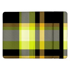 Tartan Pattern Background Fabric Design Samsung Galaxy Tab Pro 12 2  Flip Case