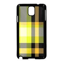 Tartan Pattern Background Fabric Design Samsung Galaxy Note 3 Neo Hardshell Case (Black)