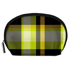 Tartan Pattern Background Fabric Design Accessory Pouches (Large)