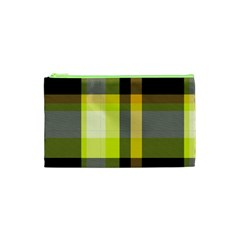 Tartan Pattern Background Fabric Design Cosmetic Bag (xs)