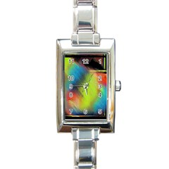 Punctulated Colorful Ground Noise Nervous Sorcery Sight Screen Pattern Rectangle Italian Charm Watch