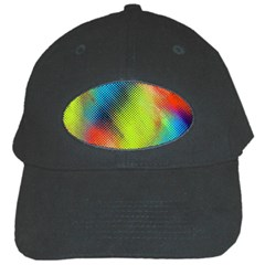 Punctulated Colorful Ground Noise Nervous Sorcery Sight Screen Pattern Black Cap