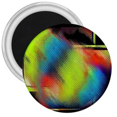 Punctulated Colorful Ground Noise Nervous Sorcery Sight Screen Pattern 3  Magnets