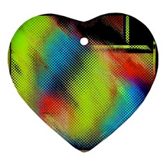Punctulated Colorful Ground Noise Nervous Sorcery Sight Screen Pattern Ornament (heart)