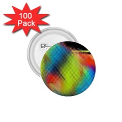 Punctulated Colorful Ground Noise Nervous Sorcery Sight Screen Pattern 1 75  Buttons (100 Pack)