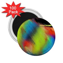 Punctulated Colorful Ground Noise Nervous Sorcery Sight Screen Pattern 2.25  Magnets (100 pack)