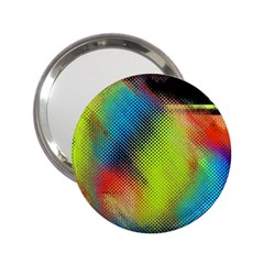 Punctulated Colorful Ground Noise Nervous Sorcery Sight Screen Pattern 2.25  Handbag Mirrors