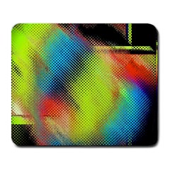 Punctulated Colorful Ground Noise Nervous Sorcery Sight Screen Pattern Large Mousepads