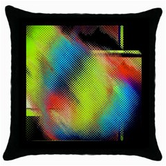 Punctulated Colorful Ground Noise Nervous Sorcery Sight Screen Pattern Throw Pillow Case (black)