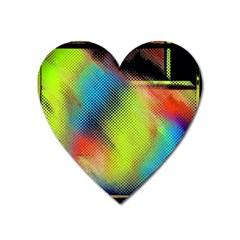 Punctulated Colorful Ground Noise Nervous Sorcery Sight Screen Pattern Heart Magnet