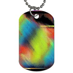 Punctulated Colorful Ground Noise Nervous Sorcery Sight Screen Pattern Dog Tag (One Side)