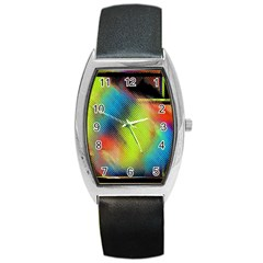 Punctulated Colorful Ground Noise Nervous Sorcery Sight Screen Pattern Barrel Style Metal Watch