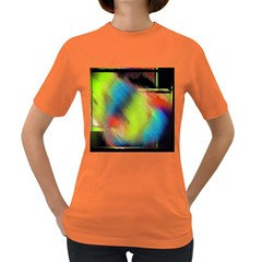 Punctulated Colorful Ground Noise Nervous Sorcery Sight Screen Pattern Women s Dark T-Shirt