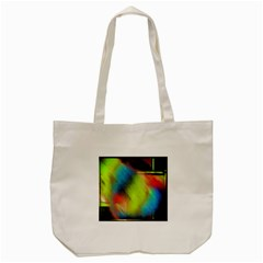Punctulated Colorful Ground Noise Nervous Sorcery Sight Screen Pattern Tote Bag (Cream)