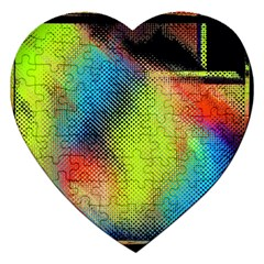 Punctulated Colorful Ground Noise Nervous Sorcery Sight Screen Pattern Jigsaw Puzzle (Heart)