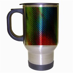 Punctulated Colorful Ground Noise Nervous Sorcery Sight Screen Pattern Travel Mug (silver Gray)