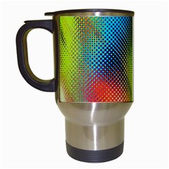 Punctulated Colorful Ground Noise Nervous Sorcery Sight Screen Pattern Travel Mugs (White)