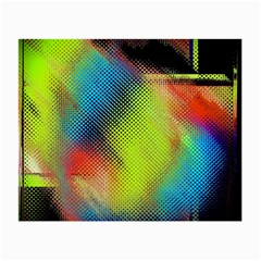 Punctulated Colorful Ground Noise Nervous Sorcery Sight Screen Pattern Small Glasses Cloth