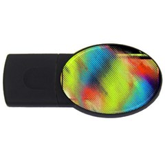 Punctulated Colorful Ground Noise Nervous Sorcery Sight Screen Pattern Usb Flash Drive Oval (4 Gb)