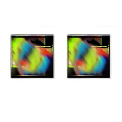 Punctulated Colorful Ground Noise Nervous Sorcery Sight Screen Pattern Cufflinks (Square)