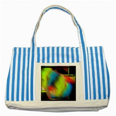 Punctulated Colorful Ground Noise Nervous Sorcery Sight Screen Pattern Striped Blue Tote Bag