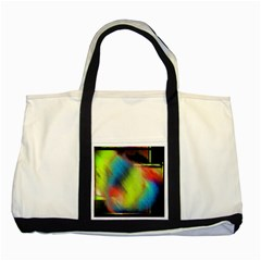 Punctulated Colorful Ground Noise Nervous Sorcery Sight Screen Pattern Two Tone Tote Bag