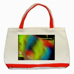 Punctulated Colorful Ground Noise Nervous Sorcery Sight Screen Pattern Classic Tote Bag (Red)