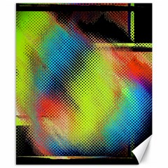 Punctulated Colorful Ground Noise Nervous Sorcery Sight Screen Pattern Canvas 8  X 10