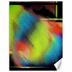 Punctulated Colorful Ground Noise Nervous Sorcery Sight Screen Pattern Canvas 18  X 24
