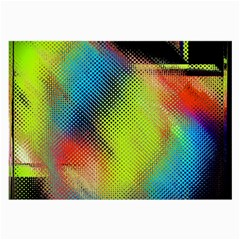 Punctulated Colorful Ground Noise Nervous Sorcery Sight Screen Pattern Large Glasses Cloth