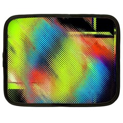Punctulated Colorful Ground Noise Nervous Sorcery Sight Screen Pattern Netbook Case (Large)