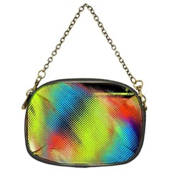 Punctulated Colorful Ground Noise Nervous Sorcery Sight Screen Pattern Chain Purses (one Side)