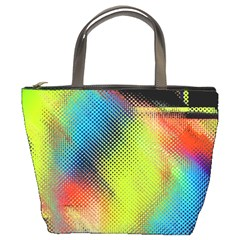 Punctulated Colorful Ground Noise Nervous Sorcery Sight Screen Pattern Bucket Bags