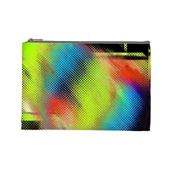 Punctulated Colorful Ground Noise Nervous Sorcery Sight Screen Pattern Cosmetic Bag (large)