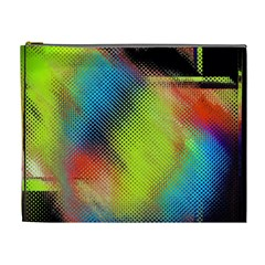 Punctulated Colorful Ground Noise Nervous Sorcery Sight Screen Pattern Cosmetic Bag (xl)