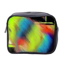Punctulated Colorful Ground Noise Nervous Sorcery Sight Screen Pattern Mini Toiletries Bag 2 Side