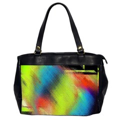 Punctulated Colorful Ground Noise Nervous Sorcery Sight Screen Pattern Office Handbags (2 Sides)