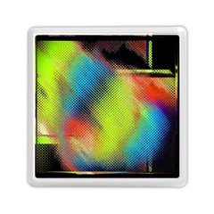Punctulated Colorful Ground Noise Nervous Sorcery Sight Screen Pattern Memory Card Reader (square)