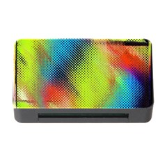 Punctulated Colorful Ground Noise Nervous Sorcery Sight Screen Pattern Memory Card Reader With Cf